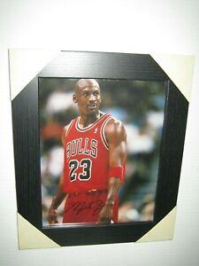 Michael Jordan Excellent Hand Signed Photograph {8x10} Framed + CoA