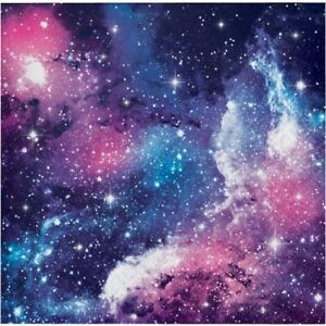 Galaxy Beverage Napkins 16 Pack Stars Outer Space Science Party Decoration
