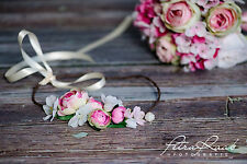 Blumenkranz Blüten Braut Frisur Hochzeit Boho A22