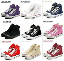 b0710b1a55747 Hot Fashion Sneaker Womens Mens Lace Up Leisure Sport Canvas Girls Preppy  Shoes