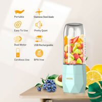 Portable Personal Blender Juicer Bottle Smoothie Mixer USB Rechargeable 400ML