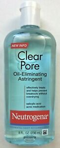 Neutrogena Clear Pore Oil Eliminating Astringent, 8 oz EXP 09/2022