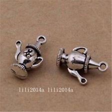 30pc Tibetan Silver Charm Pendant Teapot Accessories wholesale  PL1278