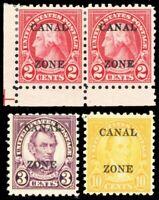 Canal Zone 97-99, Mint OG Three Different Stamps Cat $115.00 - Stuart Katz