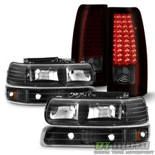 1999-2002 Chevy Silverado 1500 2500 3500 Bumper Headlights+Led Tail Lights Lamps