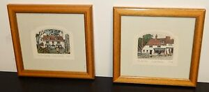 PAIR OF CHAD COLEMAN SMALL LIMITED HAND SIGNED ETCHINGS
