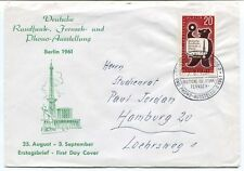 1981 Deutsche Rundfunk Fernseh Phono Ausstellung Berlin Erstagsbrief SPACE NASA