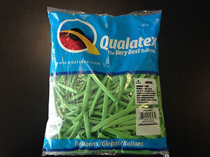 Qualatex Lime Green 260Q Entertainer Balloons ~ 100 ct.