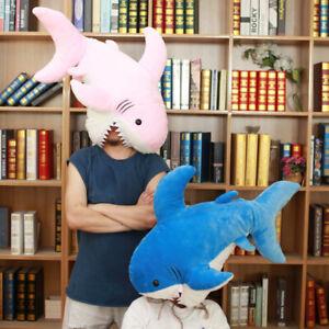 35'' Shark Plush Toy Stuffed Animals Shark Dolls Cushion Pillow Girls Kids Gifts