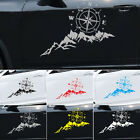 Black Compass Mountain Tree Graphics Sticker Car Offroad Body Door Hood Decals