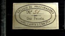 1835-SELLO FISCAL COLEGIO PROCURADORES CARTAGENA 1 PTA