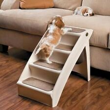XTRA Large Pet Dog Folding Stairs Tall High Bed Car Ladder Ramp Steps Portable