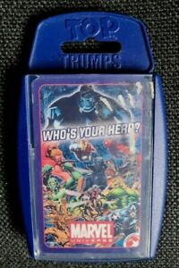 TOP  TRUMPS   WHO'S YOUR HERO    MARVEL UNIVERSE