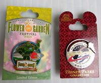 Disney Epcot Pins (2)- Flower & Garden Toy Story Buzz Lightyear & Space Mission