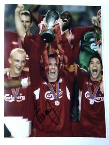 Jamie Carragher Liverpool & England Hand Signed 16x12 Photo YNWA