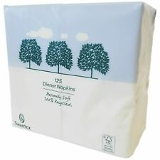 More details for swantex recycled white dinner napkins 40cm 2ply 16 packs of 125 rc-162p