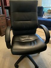 Basyx Black Leather Tall Back Chair
