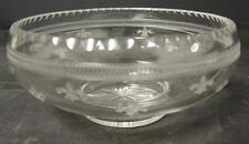 ABP Cut Glass Fleur de Lis Etched Butter Dish