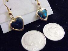 bling gold plated abalone paua heart love sweetheart doctor ear ring hip hop hot
