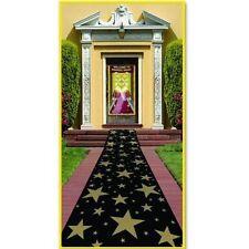 Estrellas de oro Alfombra Runner Decoración - 10ft X 2 Pies-Hollywood Piso Decoración
