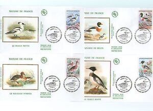 FDC - FRANCE 2785-2788 - ESPECES PROTEGEES DE CANARDS