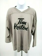 Rare TIM HORTONS TIMBITS Jersey YOUTH XL I just Played Thirsty Gray #44 Women?