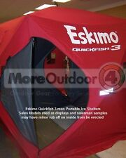 69143 Eskimo QuickFish 3 Ice Shelter Fishing Shanty Portable Pop Up SALES MODEL