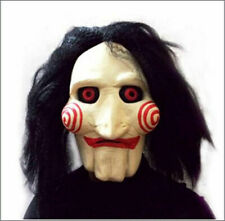 Halloween Billy Head Mask Scary Jigsaw Puppet Toy Cosplay Latex Costume Prop