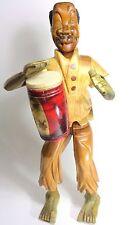 Afro-Cuban Man with Conga Tumbadora Percussion Music Instrument Handmade Statue