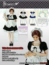 CC125 1/6 Clothing- Black Maidservant Clothing set for CY COOL GIRL/HOT TOYS