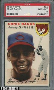 """1954 Topps SETBREAK #94 Ernie Banks RC Rookie HOF PSA 8 """" SHARP CORNERS """""""