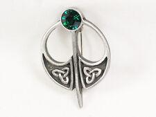jewelled Pewter Brooch Celtic Kilt Pin style