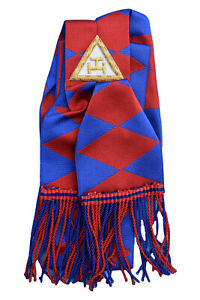 Masonic Royal Arch Companions Sash With Embroidered Taus Chapter RA Regalia