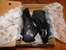 Under Armour Men's Nitro Mid D Football Cleats, Sz 12, Black/Charcoal, NIB