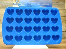 Wilton silicone Easy Flex bake ware 24 cavity mini heart mold