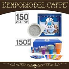 Caffè Borbone Miscela Blu 150 Cialde carta Ese 44 mm + kit accessori 150 pezzi