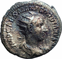 GORDIAN III 240AD Rome Authentic Ancient Silver Roman Coin Rome VIRTUS i77587