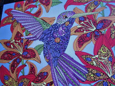 "New 300 X- Large Piece Coloring Puzzle ""Hummingbird"" 18""x24"" White Mountain"