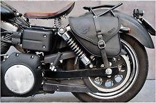 Sac de selle pour Harley Davidson Dyna Street Bob wide glide quality&style italien