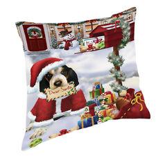 Bluetick Coonhound Dear Santa Letter Christmas Dog Throw Pillow 14x14