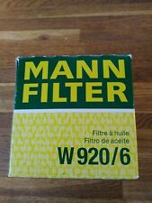 W920/6 MANN-FILTER Oil Filter JEEP GRAND CHEROKEE CHRYSLER VOYAGER AND MORE