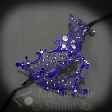 Womens Metal Phantom Filigree Laser-Cut Venetian Masquerade Prom Mask [Purple]