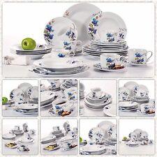 Floral autocollant rond porcelaine vaisselle céramique service de table sets 30PCS