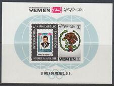 Yemen Kgr 1968 ** Bl.144 Stamp on Stamp Marke auf Marke EFIMEX Stamp Exhibition