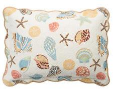 Home Classics Quilted Pillow Sham Sarah Ocean Medley Nautical Coastal Sea Shells
