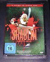 DIE SHAW BROTHERS SHAOLIN BOX 3 FILME DVD 3 DISC SET SCHNELLER VERSAND NEU & OVP