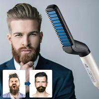 Men Beard Straightener Multifunctional Hair Comb Heated Styler Electric Brush