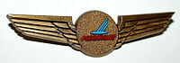 Vintage Plastic 1960-70s Piedmont Airlines Kids Captain Pilots Wings Pin New NOS