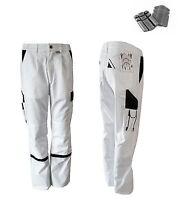 Pantalon à pinces incl. Genouillères de montage 42-74 blanc peintre TRAVAIL