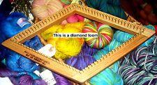 "8.5"" Diamond 1/3 Inch Bulky Sett Weaving Loom from Tri-looms by Jim"
